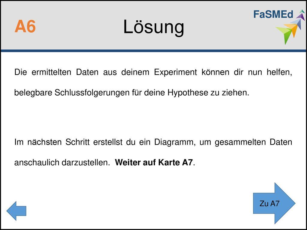 FaSMEd Lösung. A6.