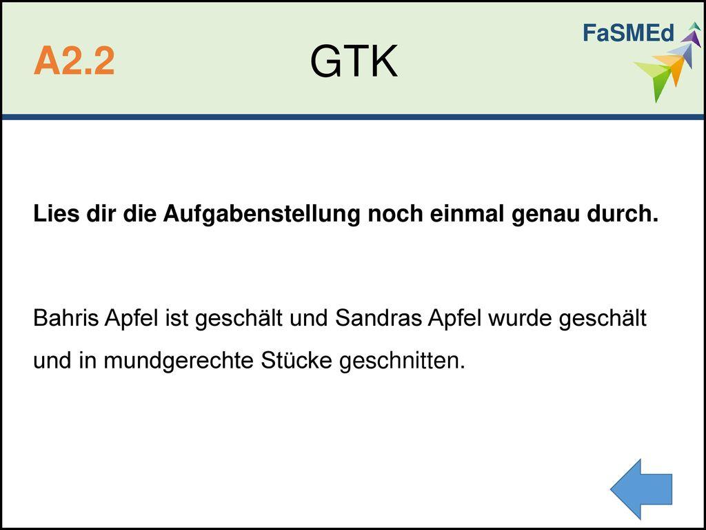 FaSMEd GTK. A2.2.