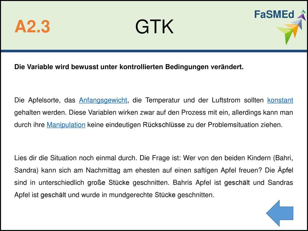 FaSMEd GTK. A2.3.