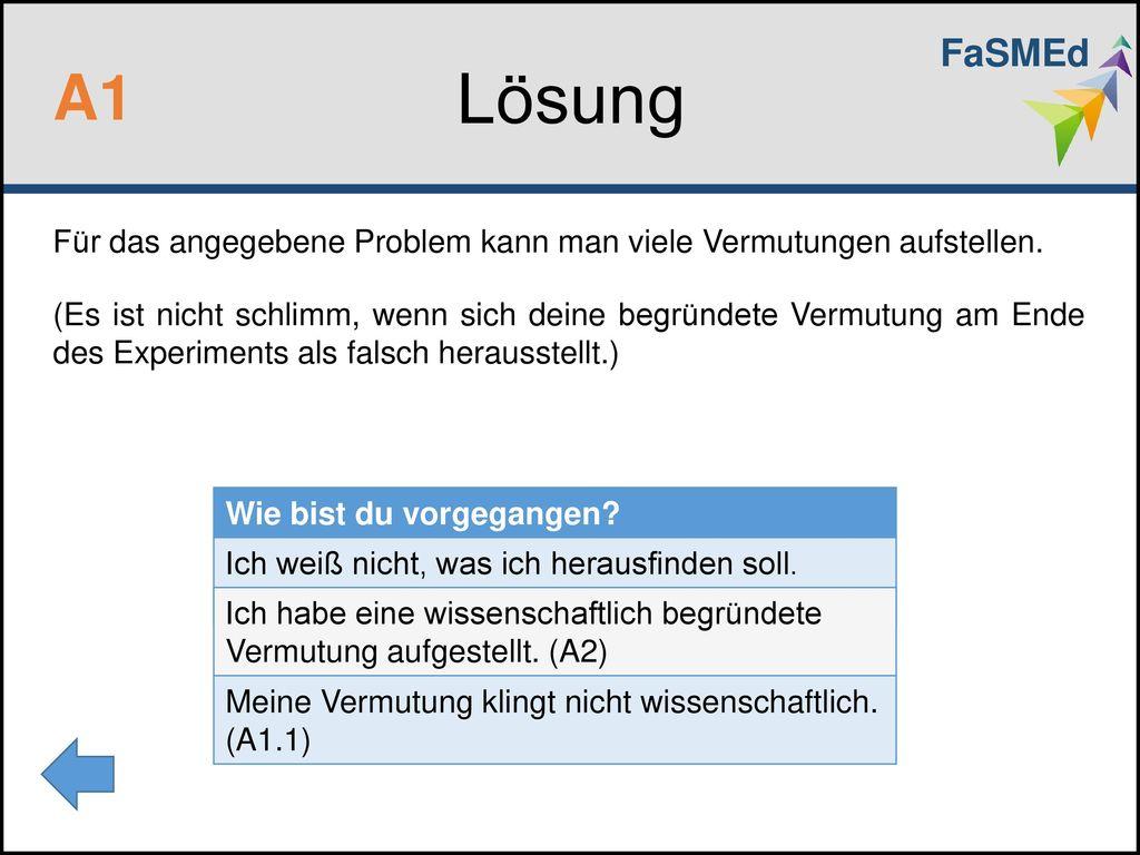 FaSMEd Lösung. A1.