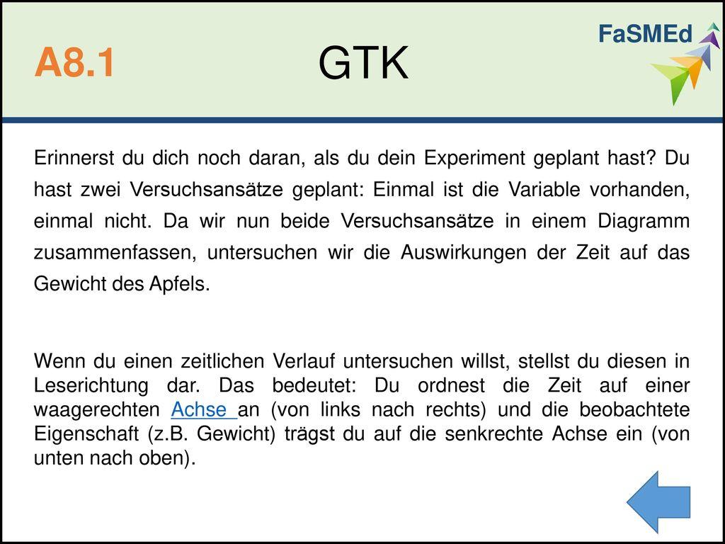 FaSMEd GTK. A8.1.