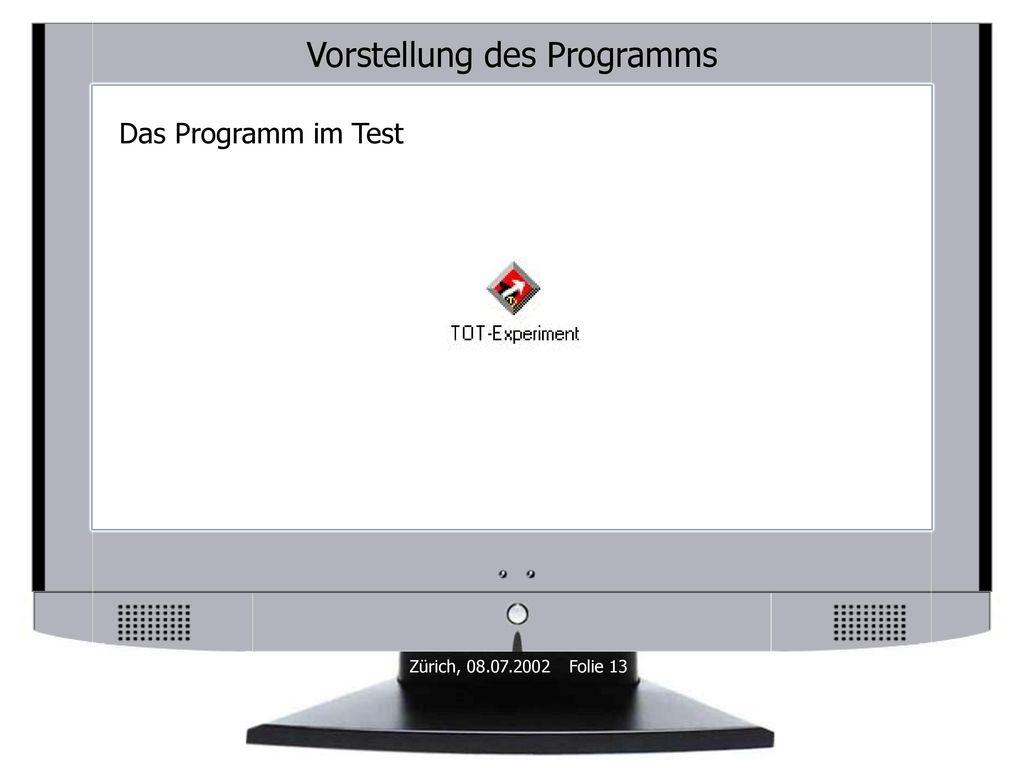 Vorstellung des Programms