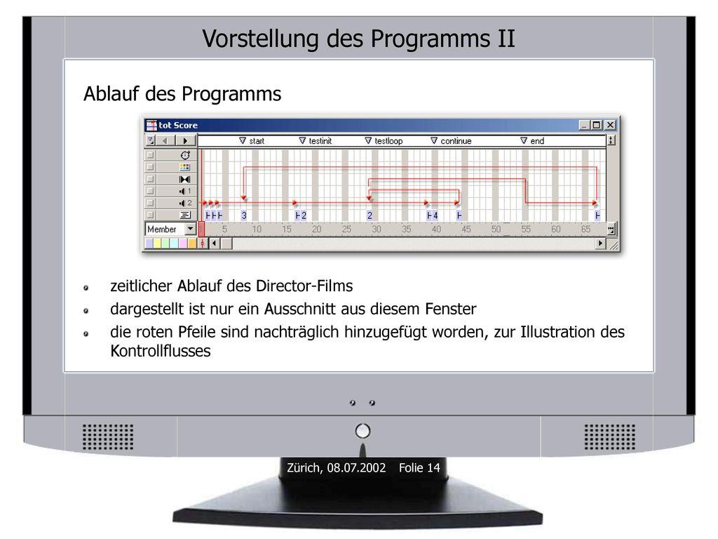 Vorstellung des Programms II