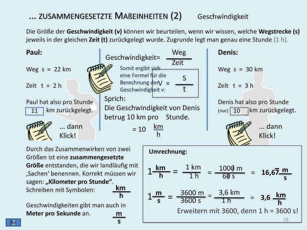 ... zusammengesetzte Maßeinheiten (3) 1 1 N