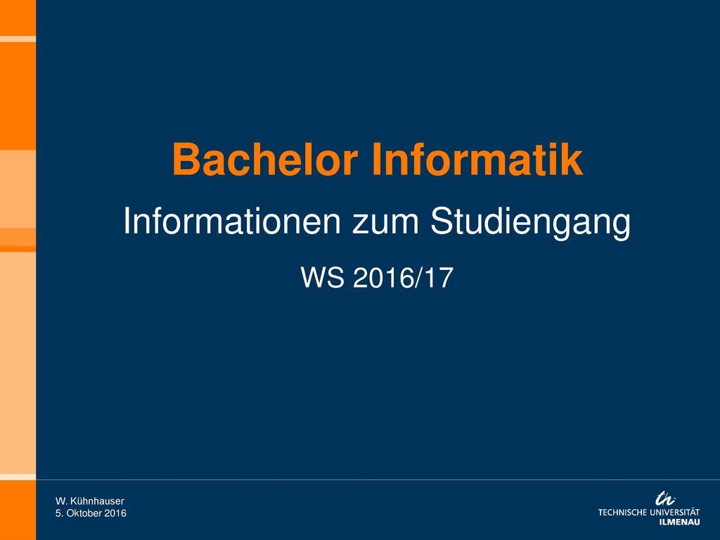 Informationen zum Studiengang