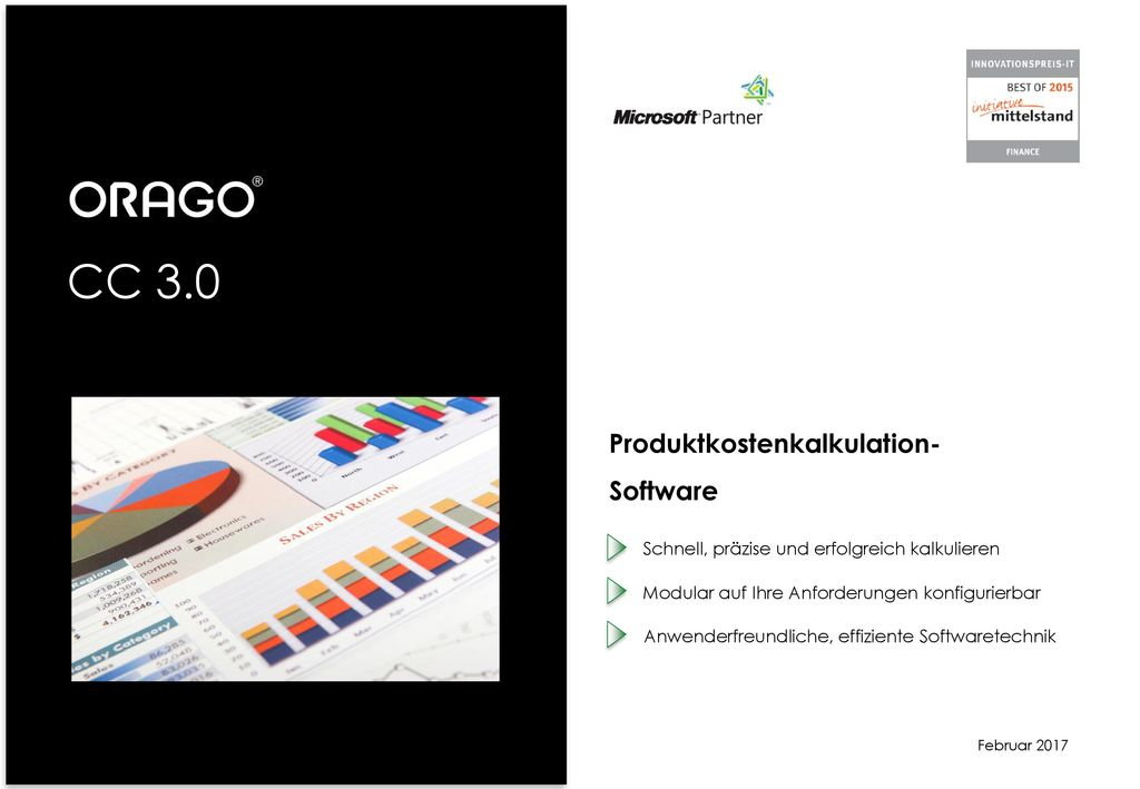 CC 3.0 Produktkostenkalkulation- Software