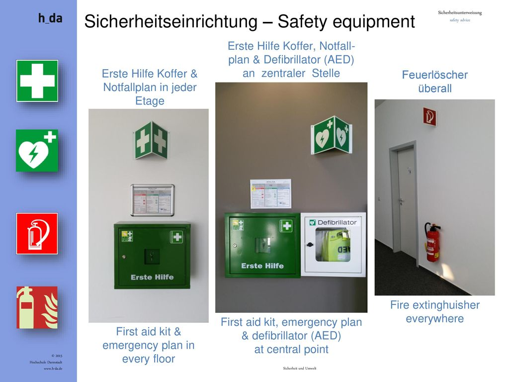 Sicherheitseinrichtung – Safety equipment