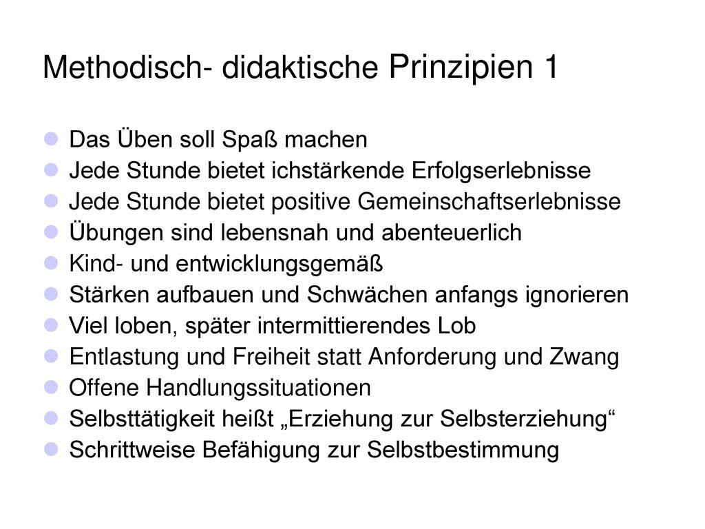 Methodisch- didaktische Prinzipien 1