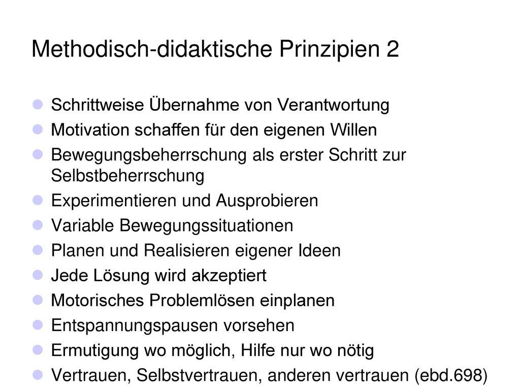 Methodisch-didaktische Prinzipien 2