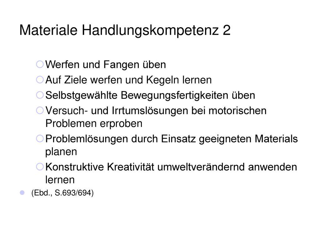 Materiale Handlungskompetenz 2