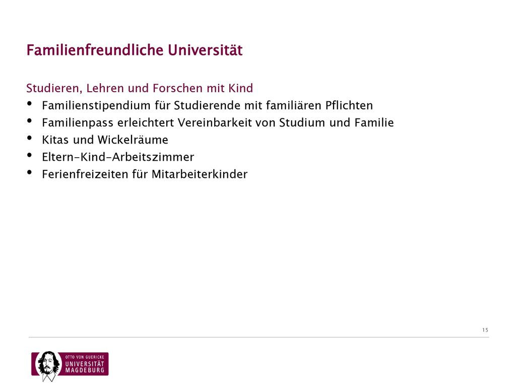 Familienfreundliche Universität