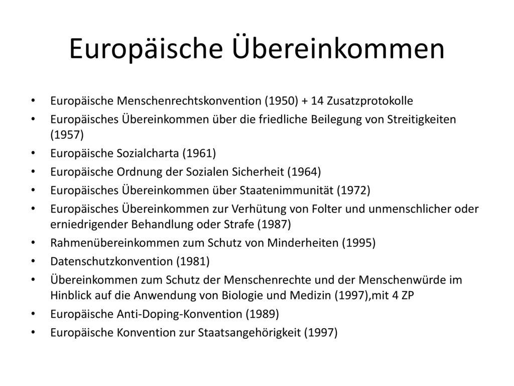 Europäische Übereinkommen