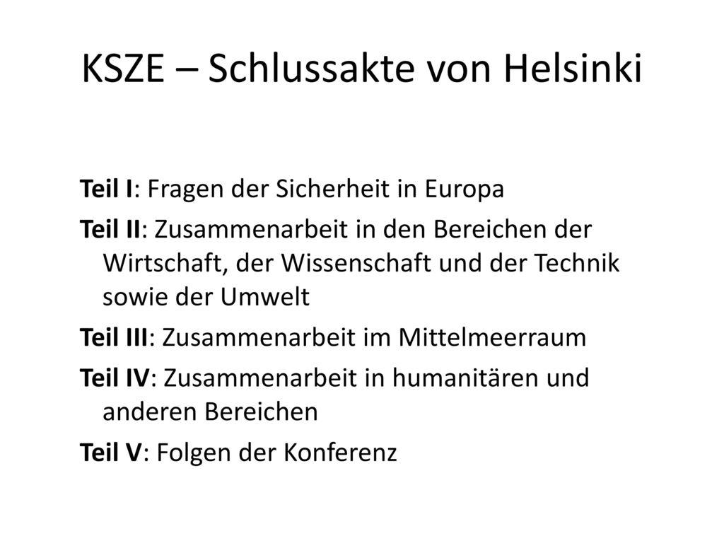 KSZE – Schlussakte von Helsinki