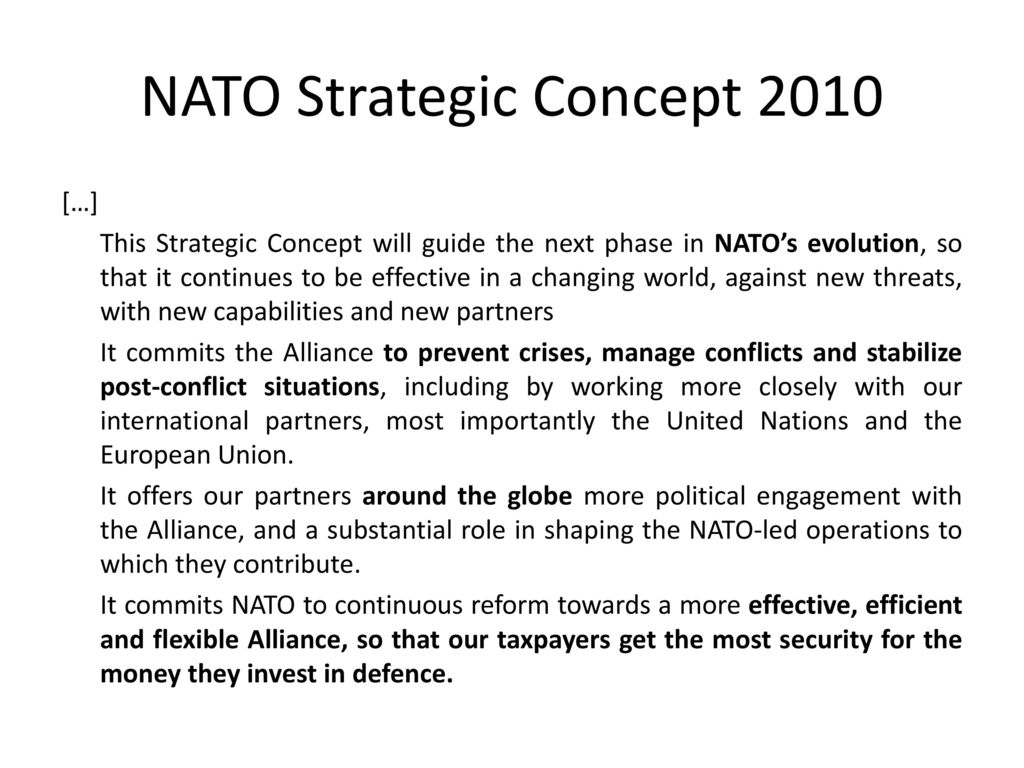 NATO Strategic Concept 2010