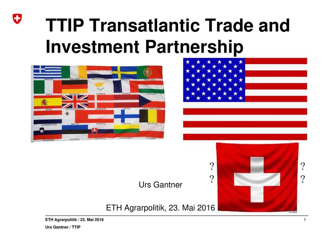 TTIP Transatlantic Trade and Investment Partnership