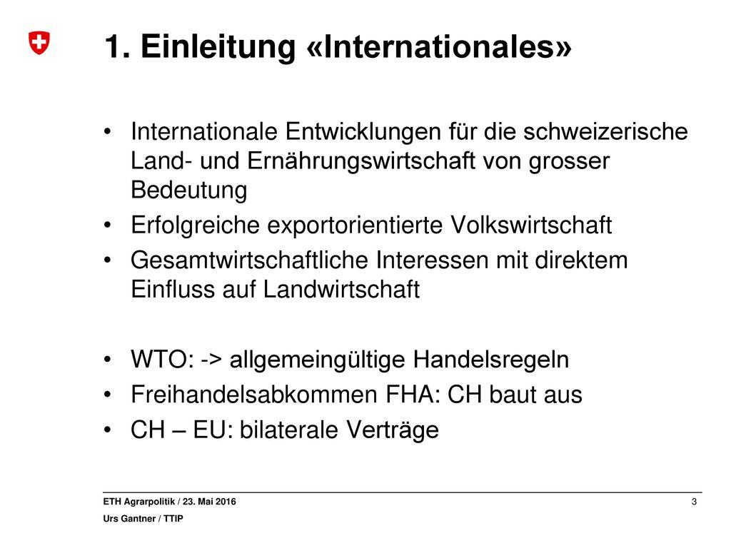 1. Einleitung «Internationales»