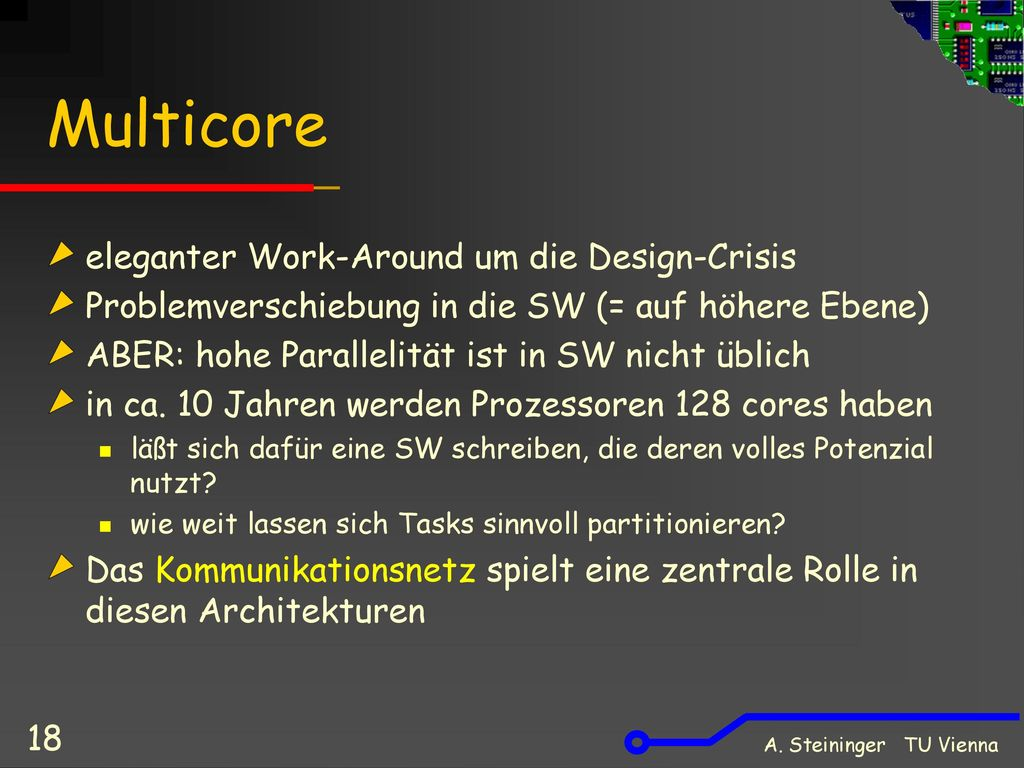 Multicore eleganter Work-Around um die Design-Crisis