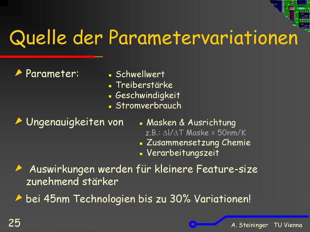 Quelle der Parametervariationen