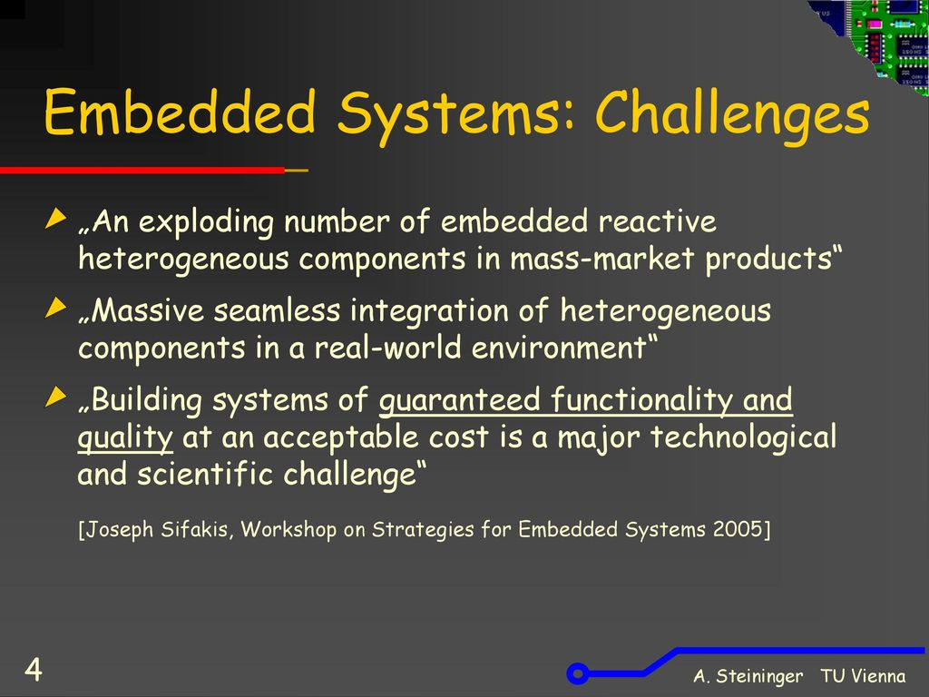 Embedded Systems: Challenges