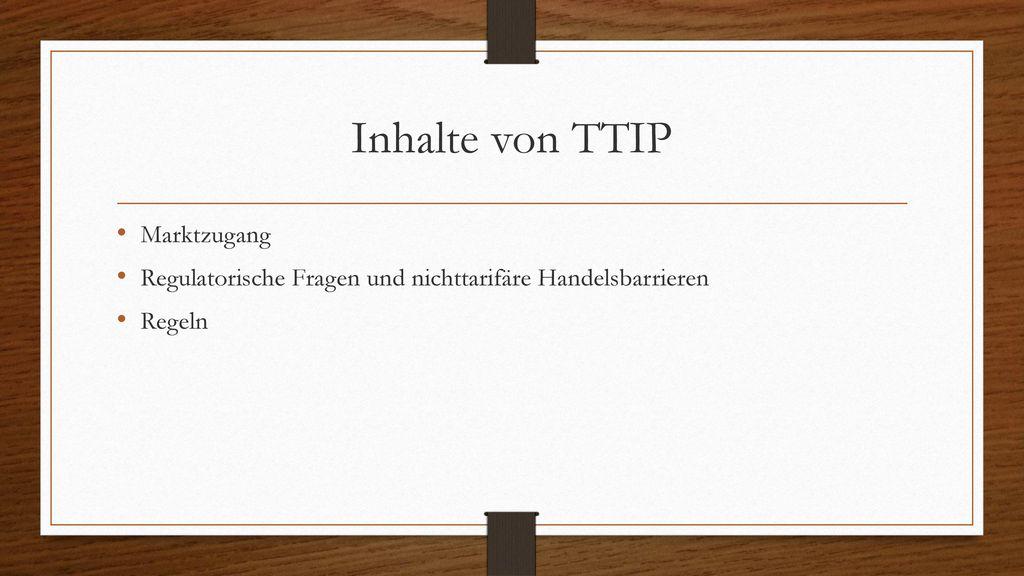 Inhalte von TTIP Marktzugang