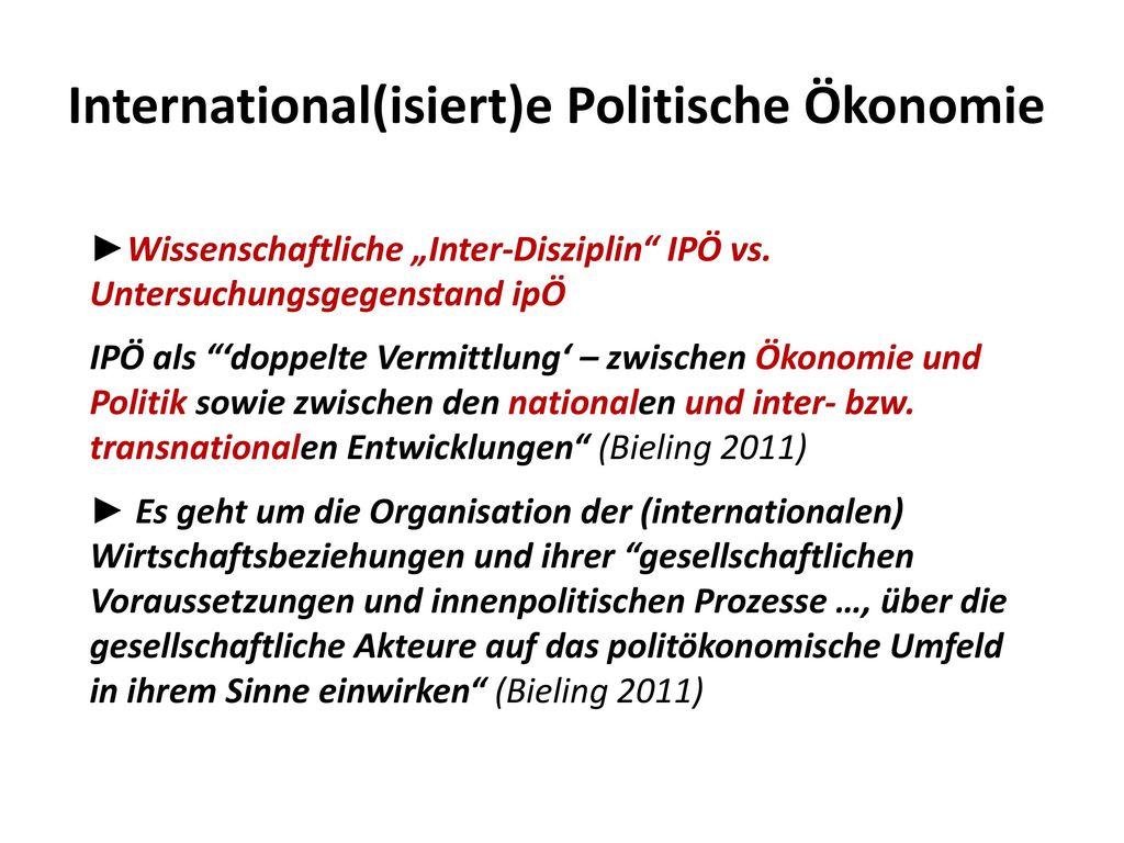 International(isiert)e Politische Ökonomie