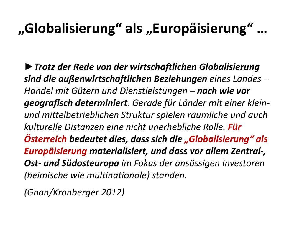 """""""Globalisierung als """"Europäisierung …"""