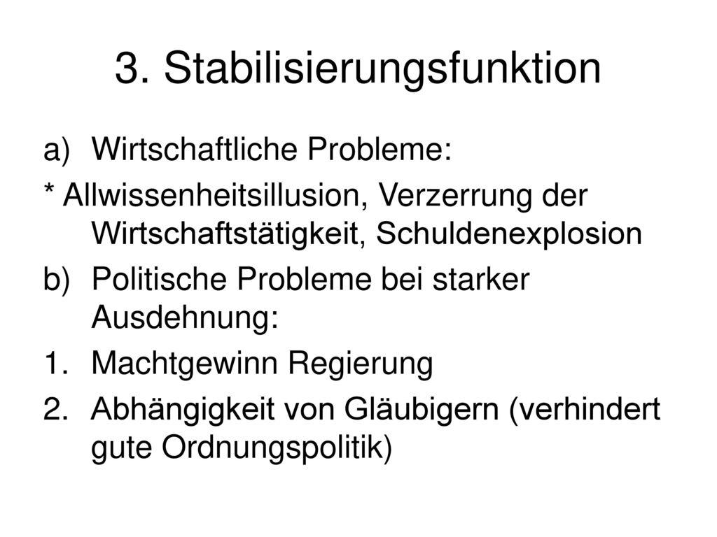3. Stabilisierungsfunktion