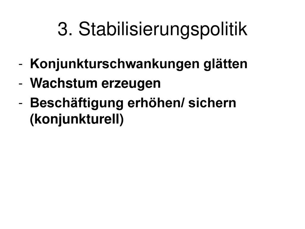 3. Stabilisierungspolitik