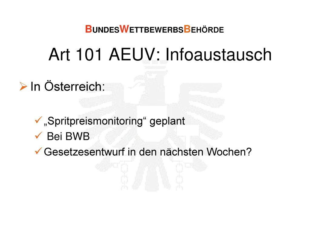 Art 101 AEUV: Infoaustausch