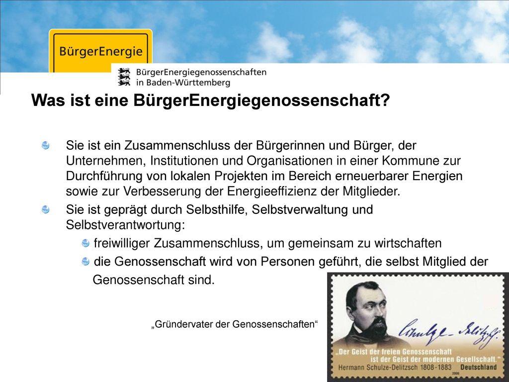 Was ist eine BürgerEnergiegenossenschaft