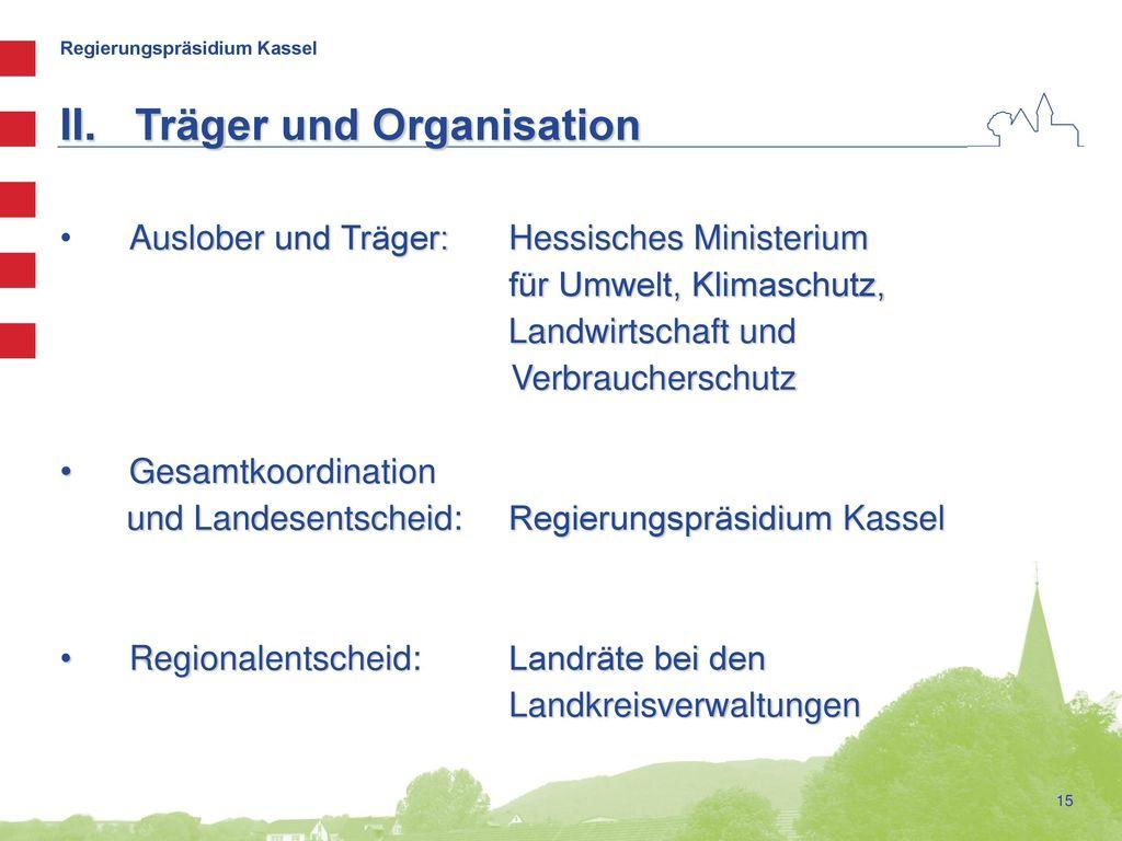 Träger und Organisation