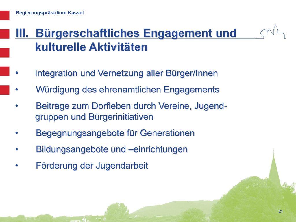 Bürgerschaftliches Engagement und kulturelle Aktivitäten
