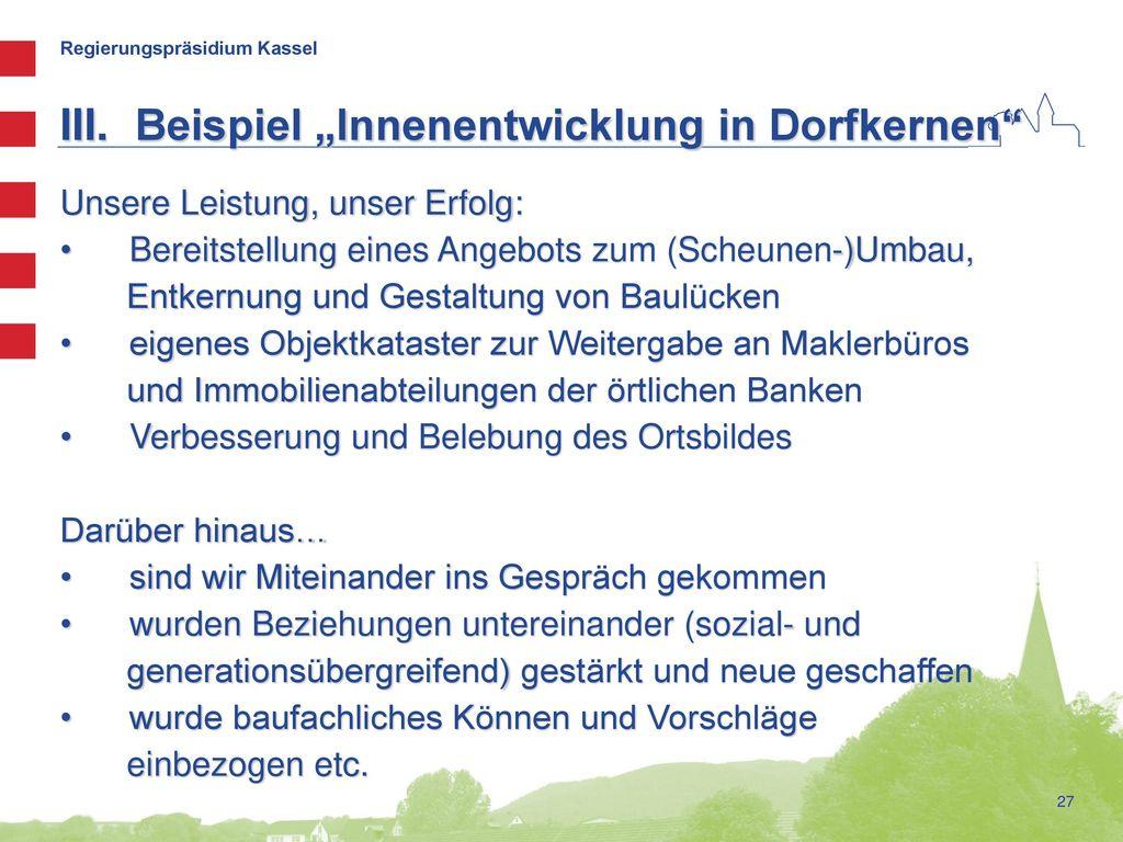 """Beispiel """"Innenentwicklung in Dorfkernen"""