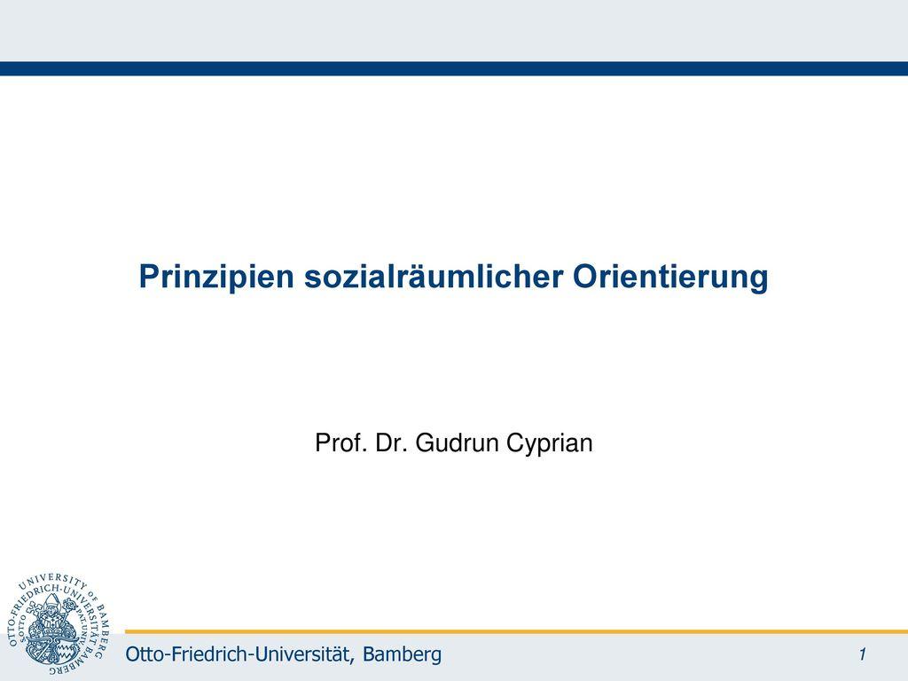 Prinzipien sozialräumlicher Orientierung