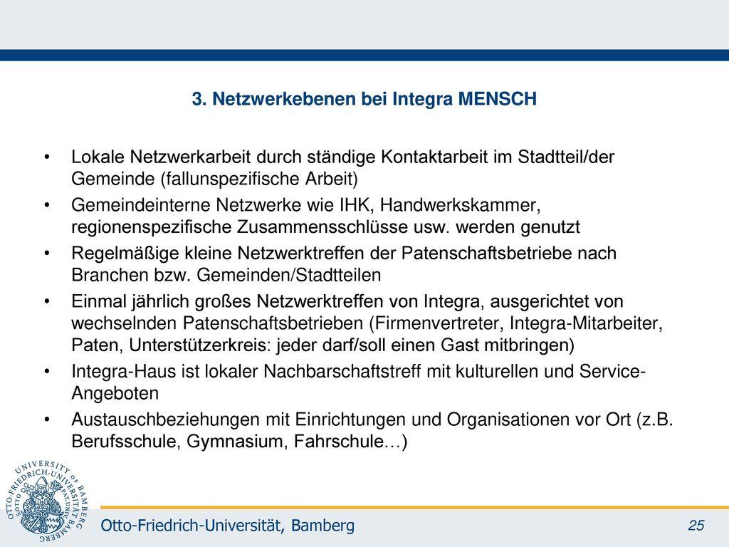 3. Netzwerkebenen bei Integra MENSCH