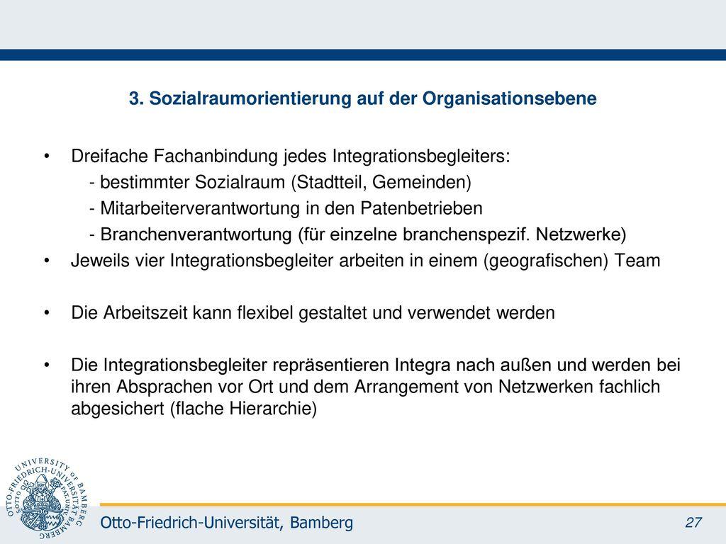 3. Sozialraumorientierung auf der Organisationsebene