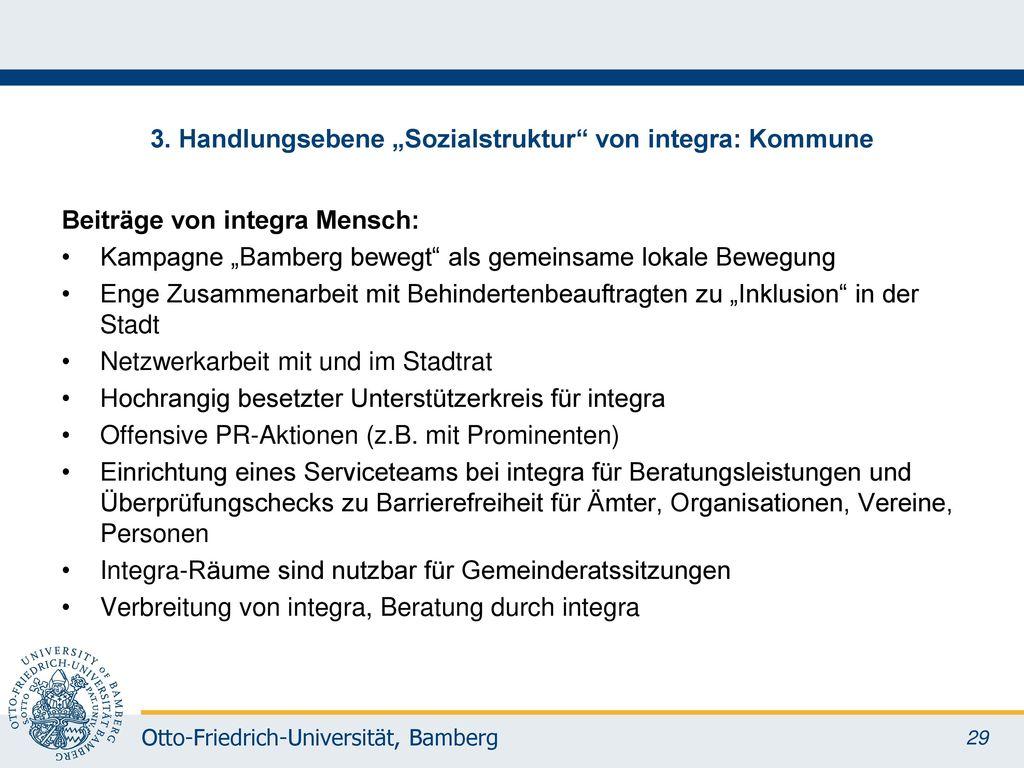 """3. Handlungsebene """"Sozialstruktur von integra: Kommune"""