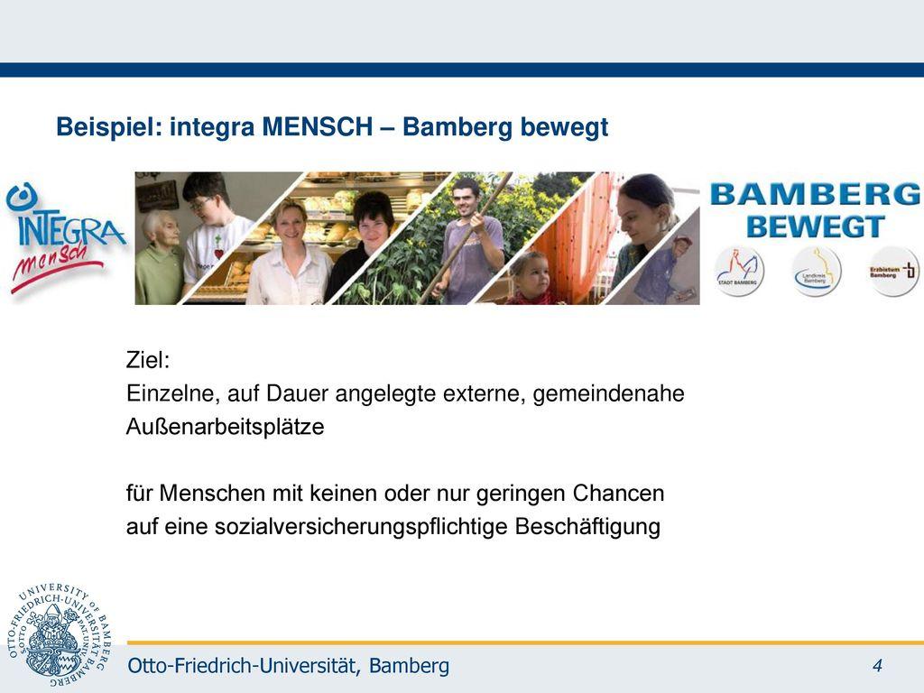 Beispiel: integra MENSCH – Bamberg bewegt