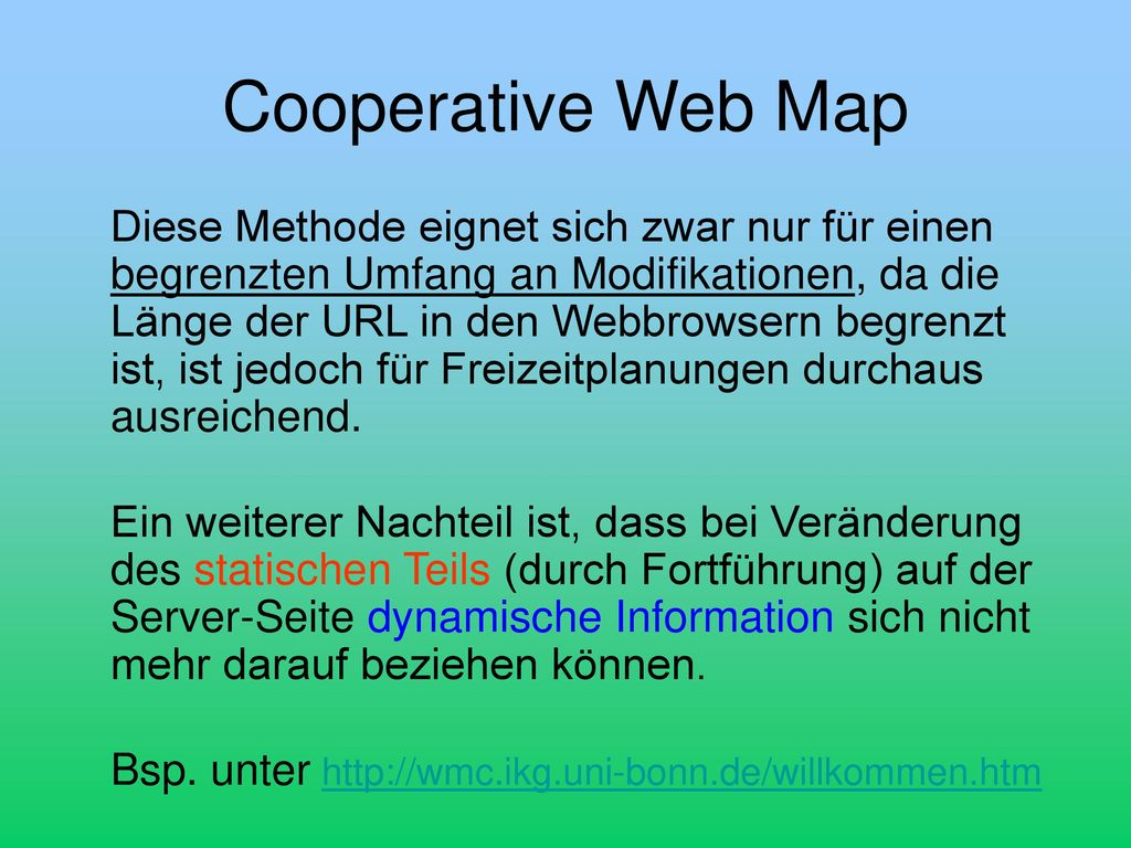 Cooperative Web Map