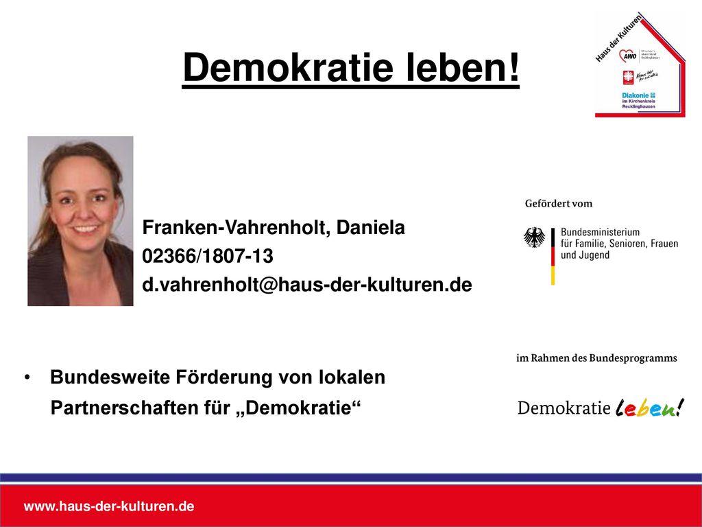 Demokratie leben! Franken-Vahrenholt, Daniela 02366/1807-13