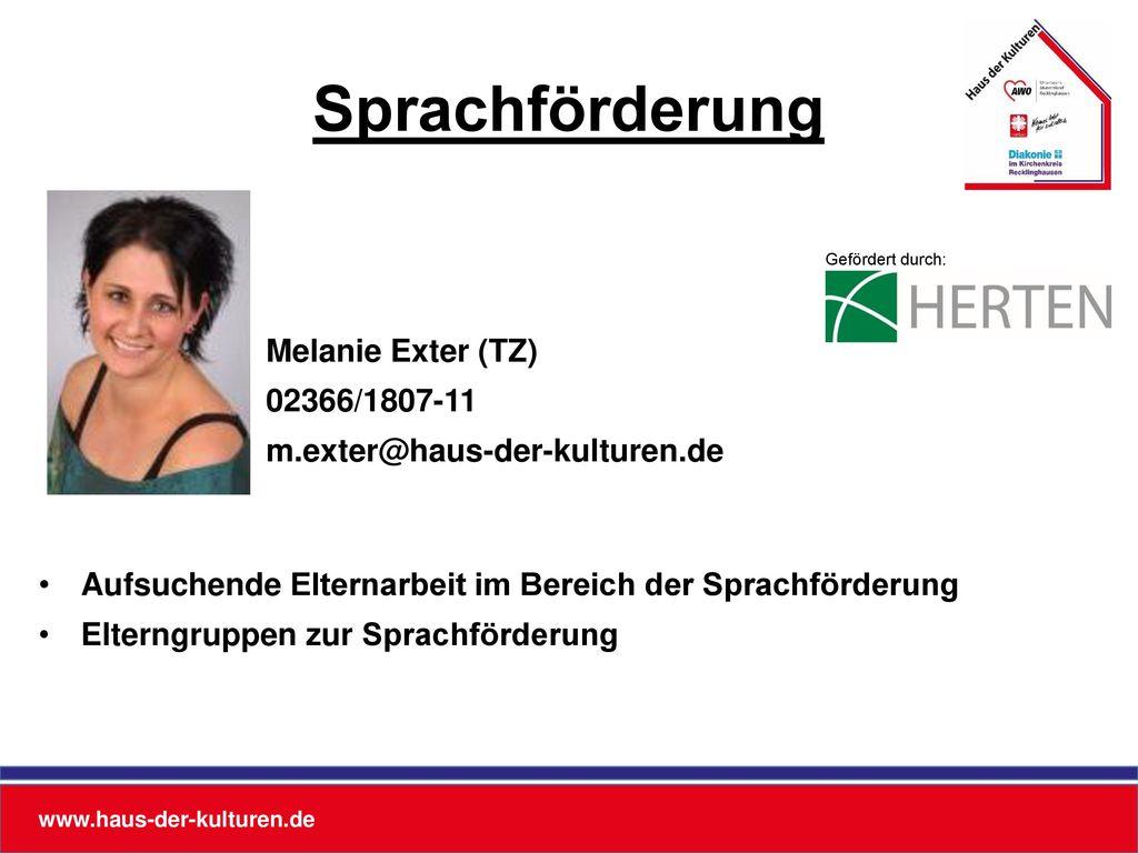 Sprachförderung Melanie Exter (TZ) 02366/1807-11