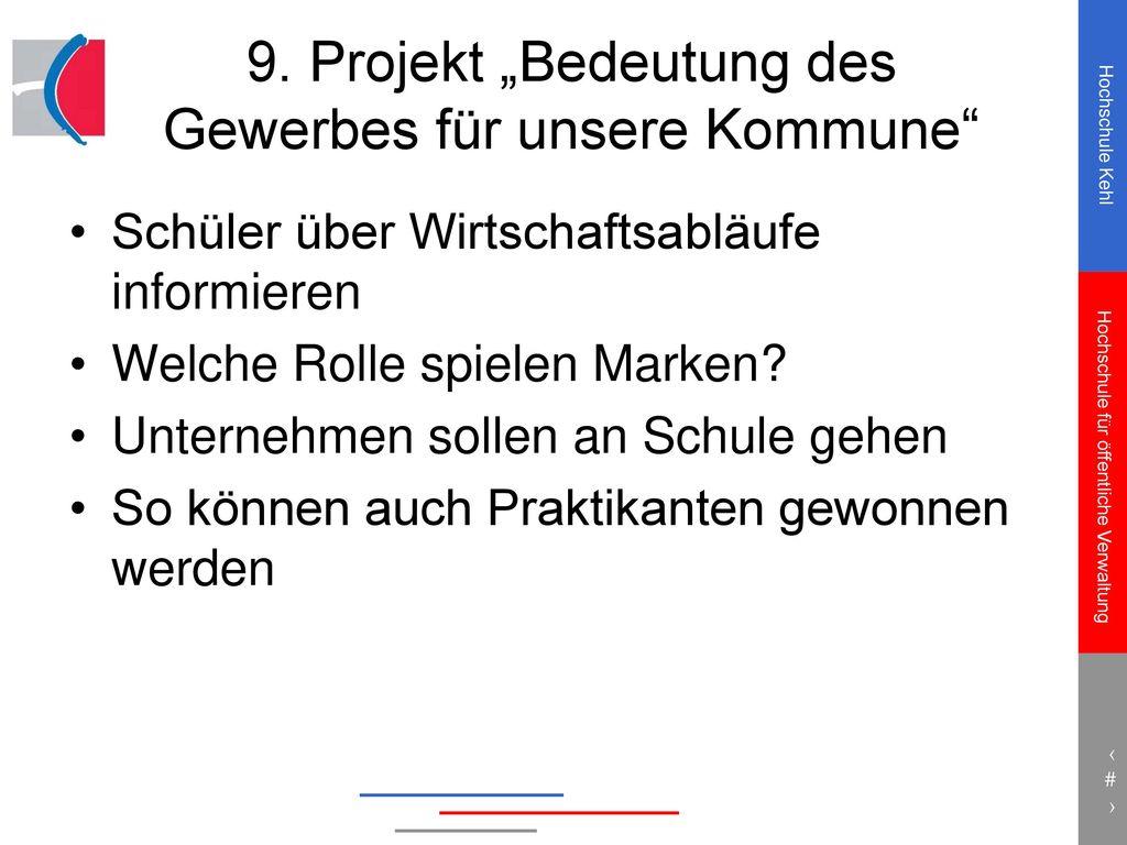 """9. Projekt """"Bedeutung des Gewerbes für unsere Kommune"""