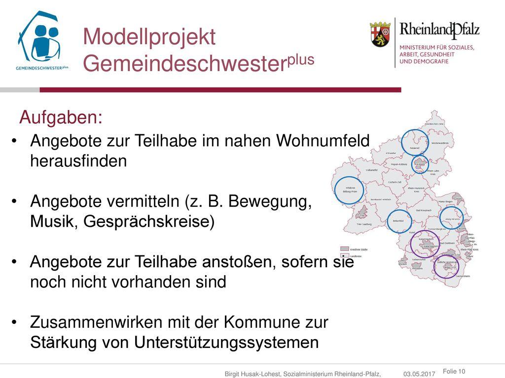 Modellprojekt Gemeindeschwesterplus