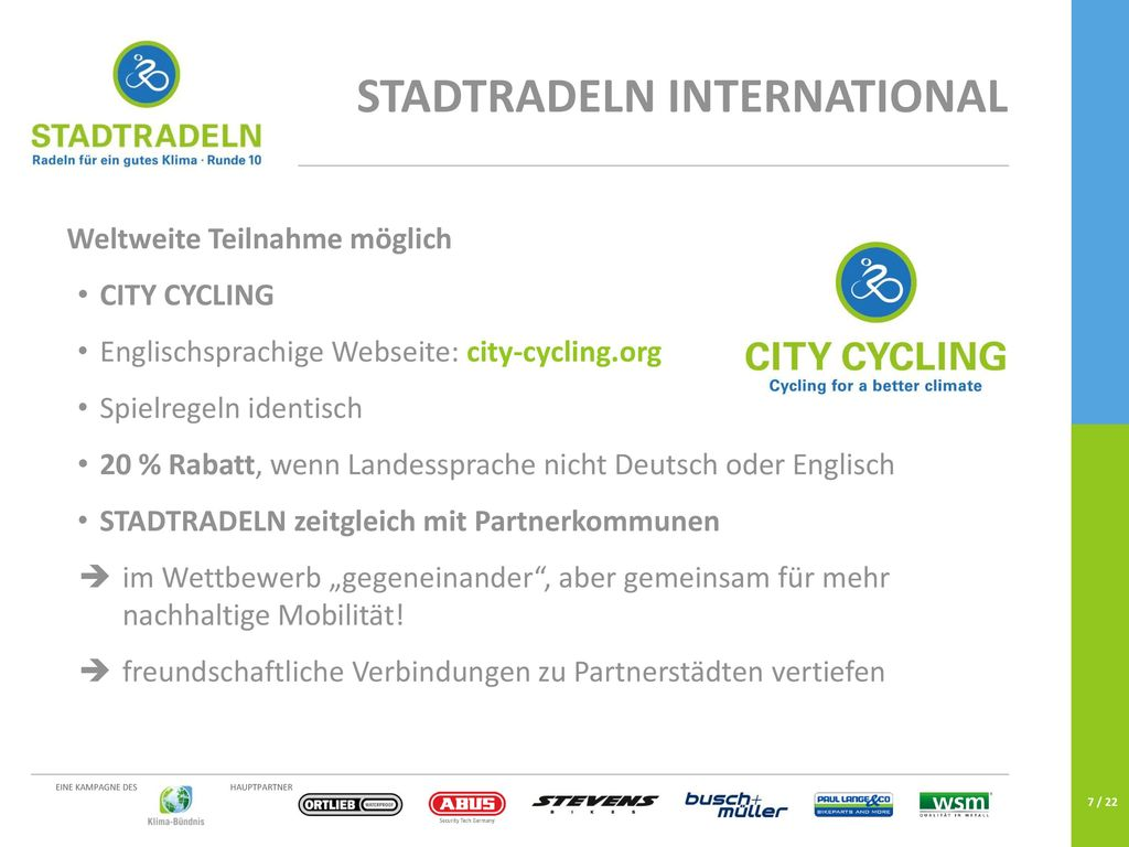 STADTRADELN international
