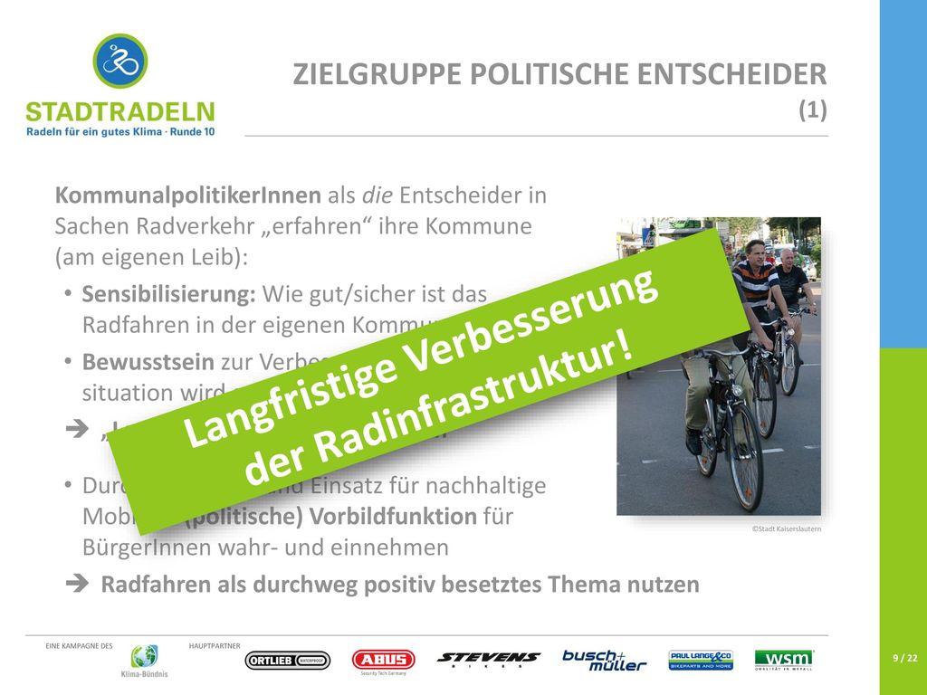 Langfristige Verbesserung der Radinfrastruktur!