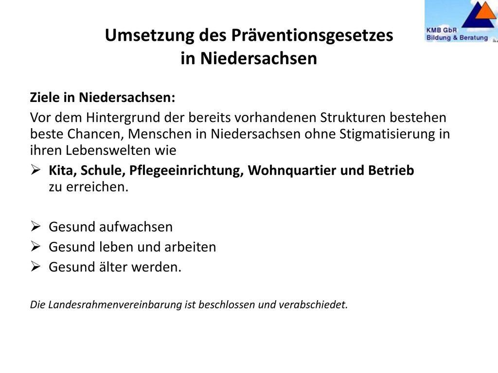 Bundesrahmenempfehlungen (BRE) der Nationalen Präventionskonferenz nach § 20d Abs.3 SGB V vom 19.02.2016