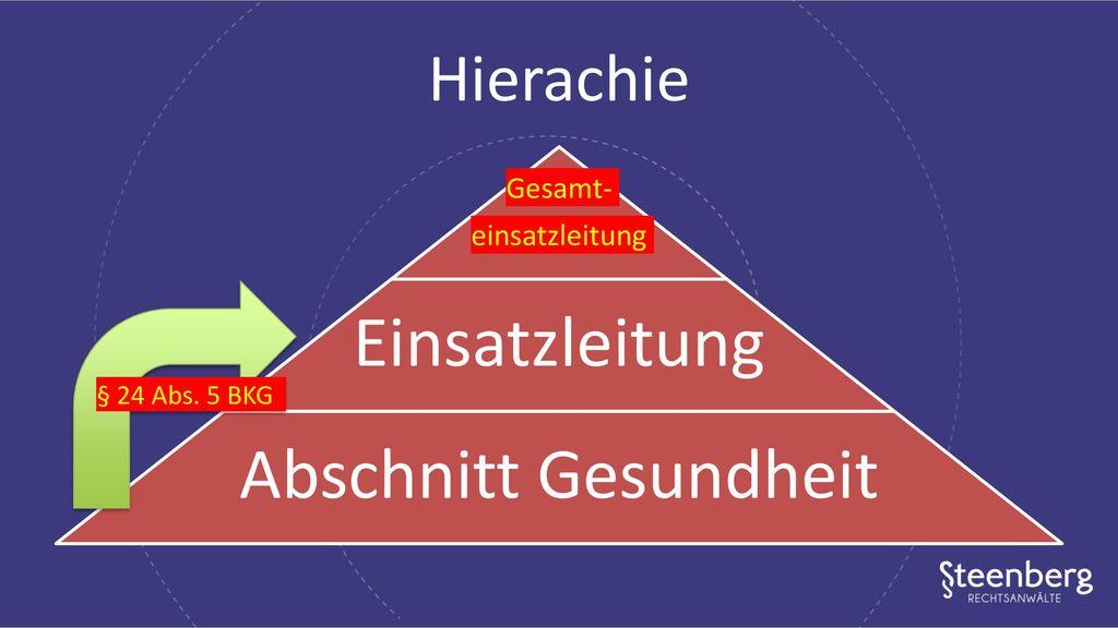 Einsatzleitung Abschnitt Gesundheit Hierachie Gesamt- einsatzleitung