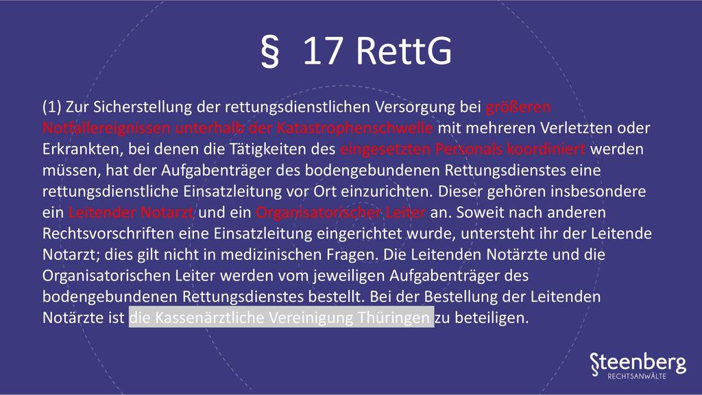 § 17 RettG