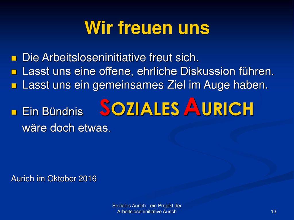 Soziales Aurich - ein Projekt der Arbeitsloseninitiative Aurich