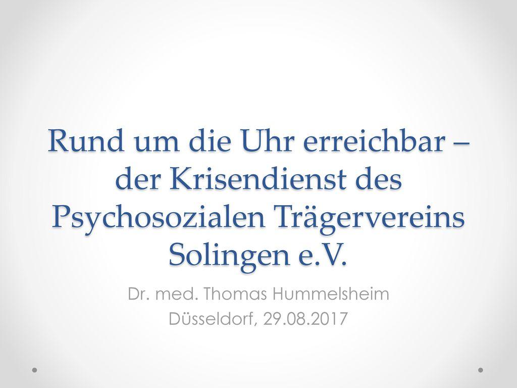 Dr. med. Thomas Hummelsheim Düsseldorf, 29.08.2017